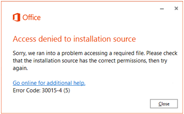 Access Denied To Installation Source