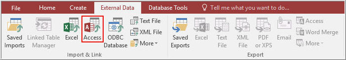 Import Access Database 1