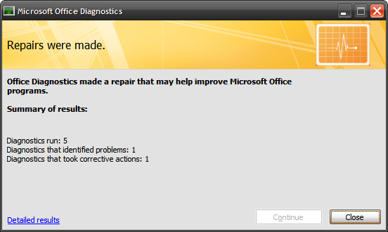MS Office Diagnose And Repair5