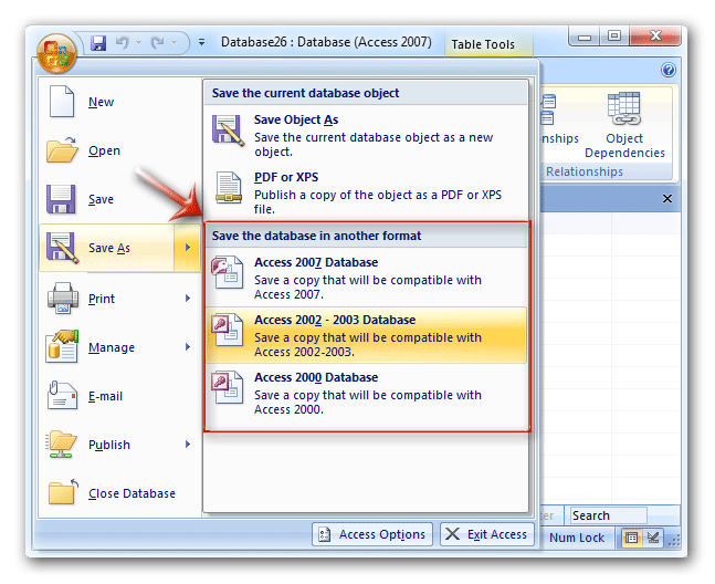Convert  ADP File To ACCDB Format