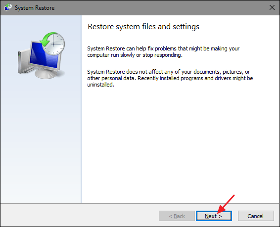 system restore 1