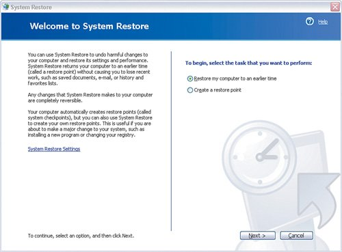 system restore 3