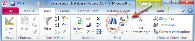 Search For A Specific Record In MS Access 1