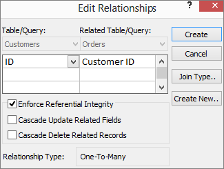 CREATE RELATIONSHIP IN ACCESS DATABASE 2