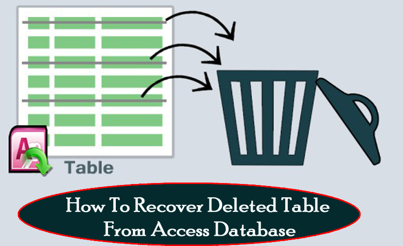 How To Recover Deleted Table From Access Database
