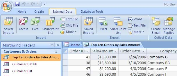 Exporting Access Database To XML Or CSV 2