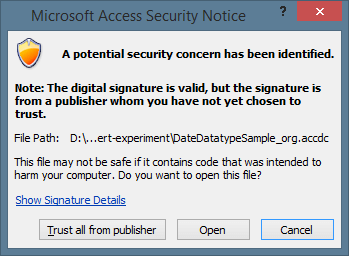 "How To Fix ""Microsoft Access Cannot Save The Digital Signature At"