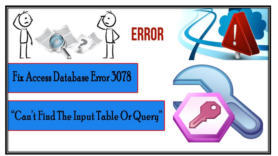 Fix Access Database Error 3078