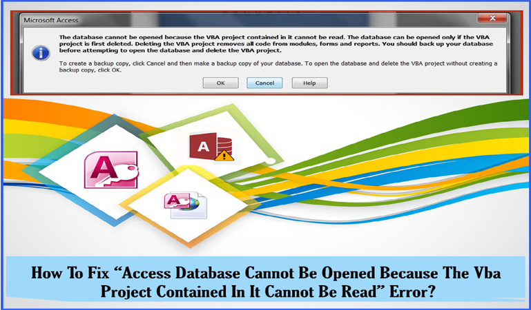 fix Access Database Cannot Be Opened error