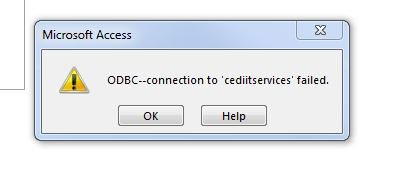 Access 3151 Odbc Connection Failed Error