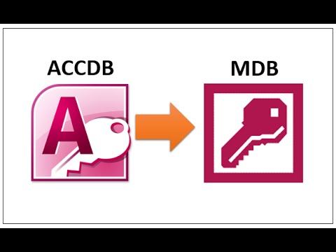 How To Convert Access Database From Accdb To Mdb File Format