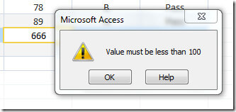 ms access validation rule 7