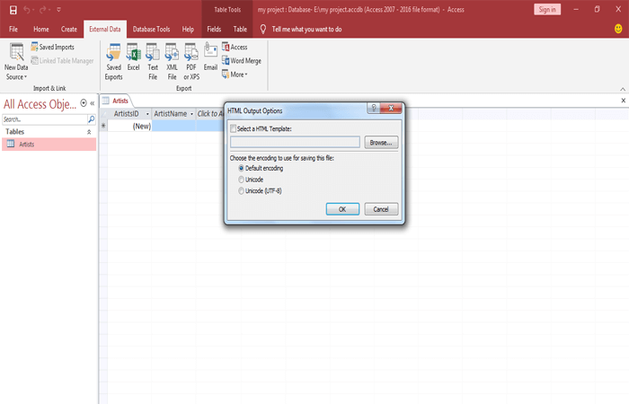 converting Access database into web application 3
