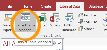 Fix Access Linked Table Manager Not Working
