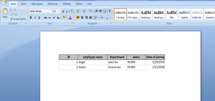 Export Access data to a Word document 4