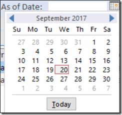 Access Date Picker Not Showing 1