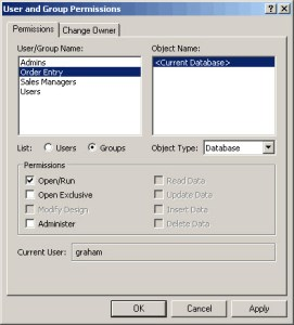 Change User Permission In Access Database