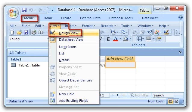 Adding The Attachment Field In Datasheet View 1
