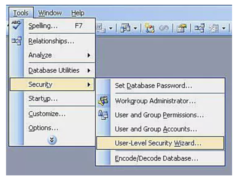 user level security---1