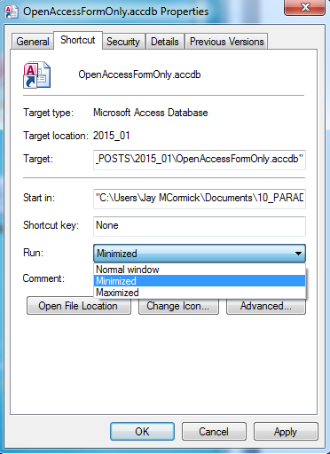Access Cannot Be Started error 5