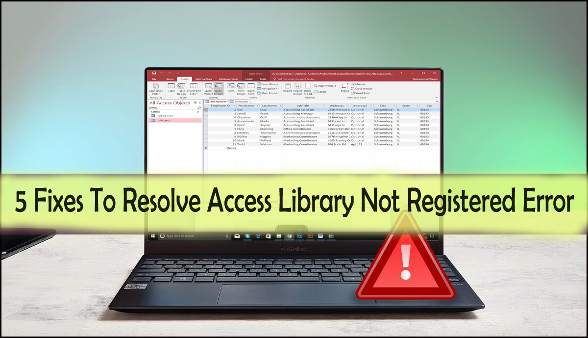 5 Fixes To Resolve Access Library Not Registered Error