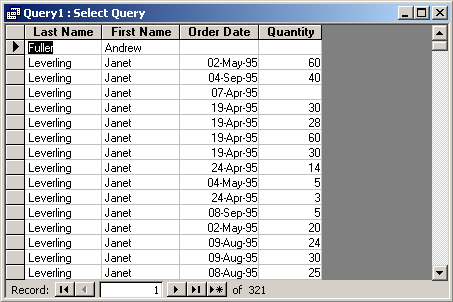 Merage table in access using left join 7