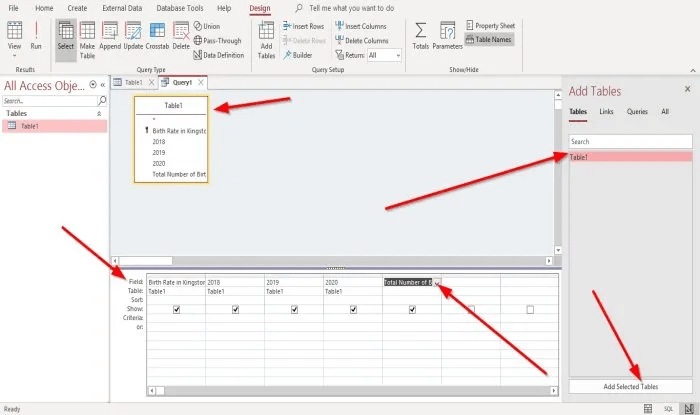 Create Calculated Fields in Access query 2