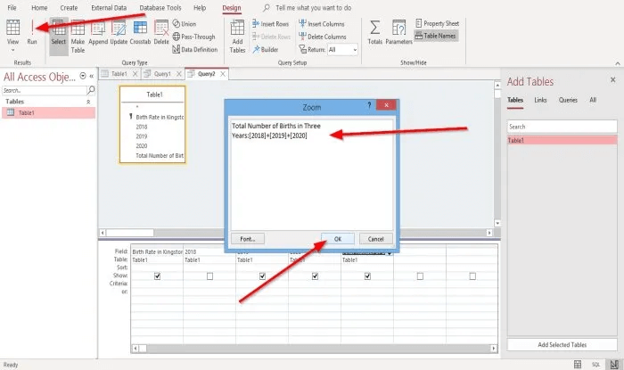 Create Calculated Fields in Access query 4