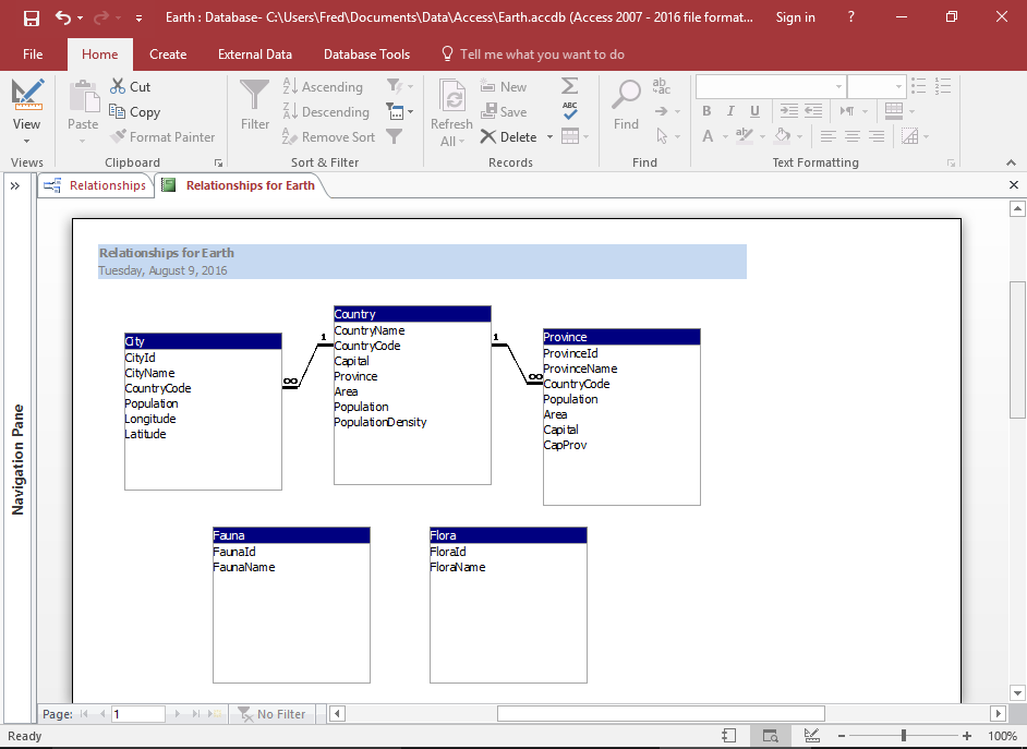 How To Create A Database Diagram In Access 2016